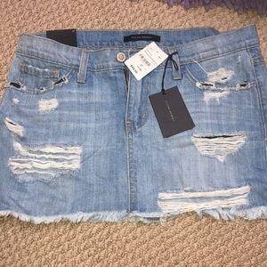 Denim ripped skirt